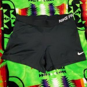 Nike pro black spandex shorts